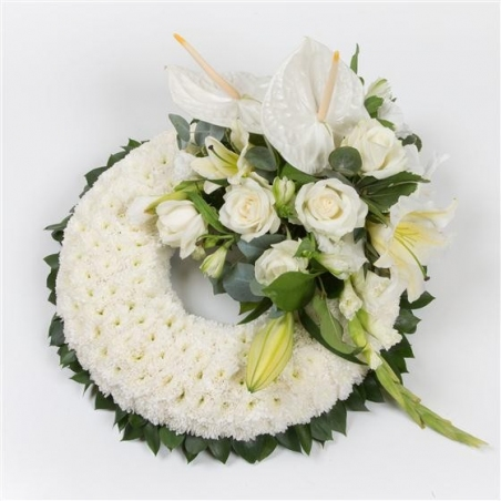 Massed Wreath - same day or named day delivery - Rushes Florist
