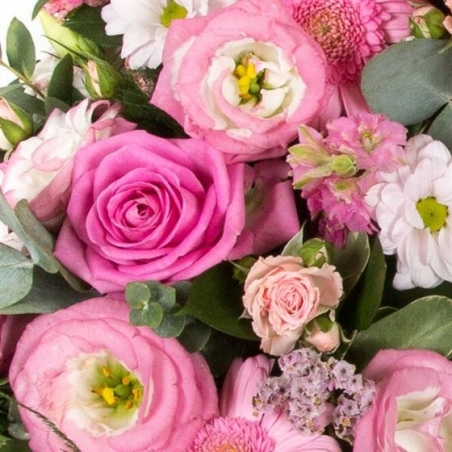 Pink Wreath - same day or named day delivery - Rushes Florist