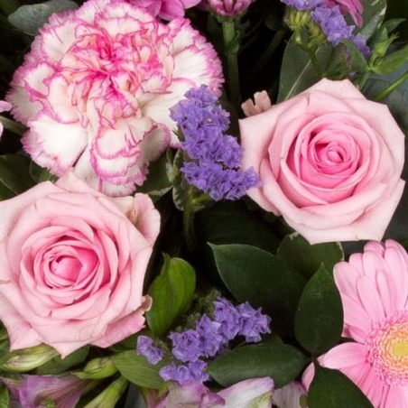 Lilac and Pink Single Ended Spray - same day or named day delivery - Rushes Florist