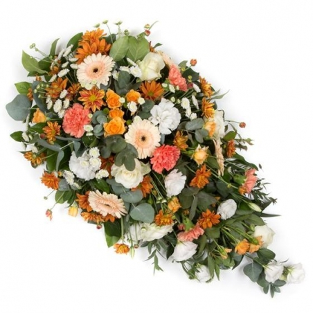 Orange & White - same day or named day delivery - Rushes Florist