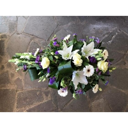 White and Purple - same day or named day delivery - Rushes Florist
