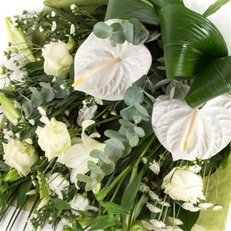 Contemporary White Sheaf - same day or named day delivery - Rushes Florist