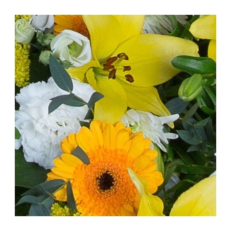Gold and White Sheaf - same day or named day delivery - Rushes Florist