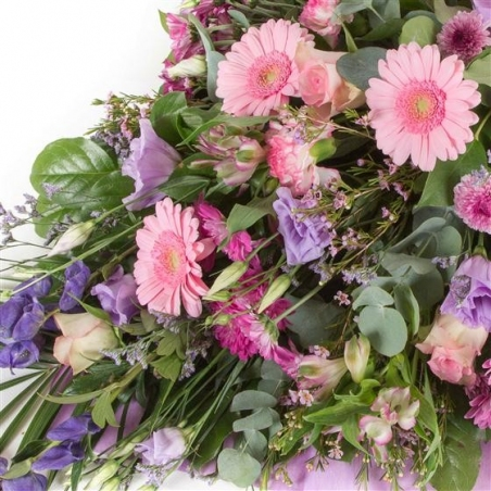 Pink and Lilac Sheaf - same day or named day delivery - Rushes Florist