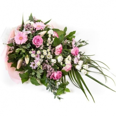 Pink and White Sheaf - same day or named day delivery - Rushes Florist