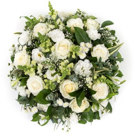 Classical White Posy - same day or named day delivery - Rushes Florist