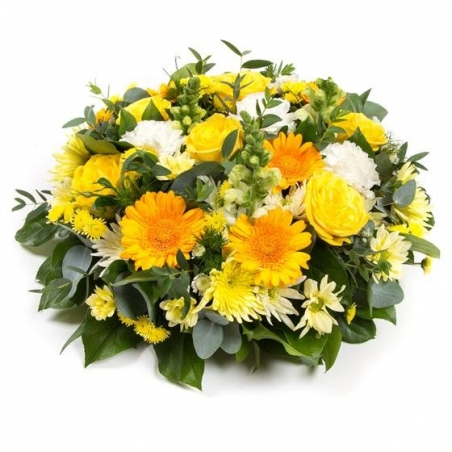 Gold and White Posy - same day or named day delivery - Rushes Florist