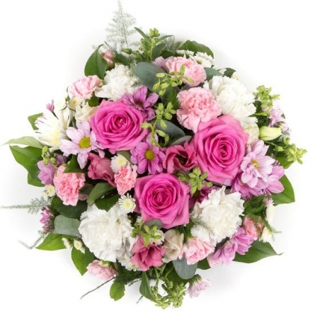 Pink and Cream Posy - same day or named day delivery - Rushes Florist