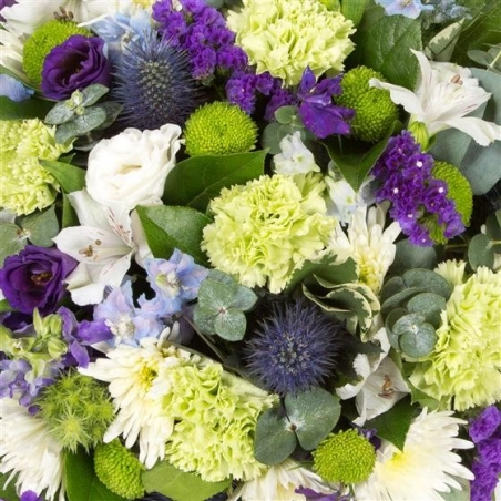 Lime and White Posy - same day or named day delivery - Rushes Florist