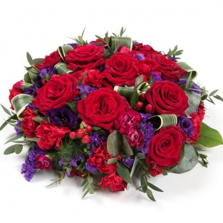 Red Rose and Purple Posy - same day or named day delivery - Rushes Florist