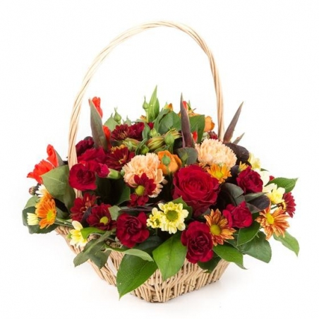 Autumnal Basket - same day or named day delivery - Rushes Florist