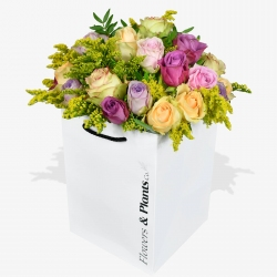 Autumn Rose & Solidago - same day or named day delivery - Rushes Florist