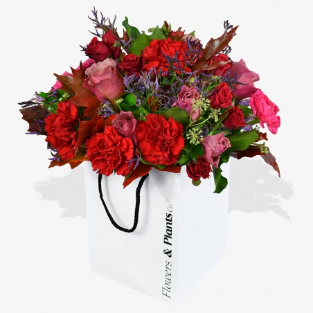 Carnation and Roses - same day or named day delivery - Rushes Florist