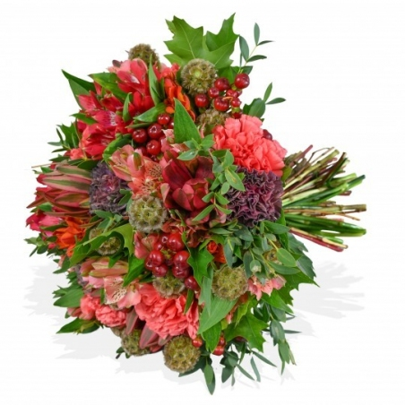 Pinks and Eucalyptus - same day or named day delivery - Rushes Florist