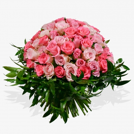 Rose and Ruscus - same day or named day delivery - Rushes Florist