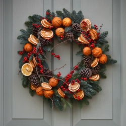 Orange & Pine - same day or named day delivery - Rushes Florist
