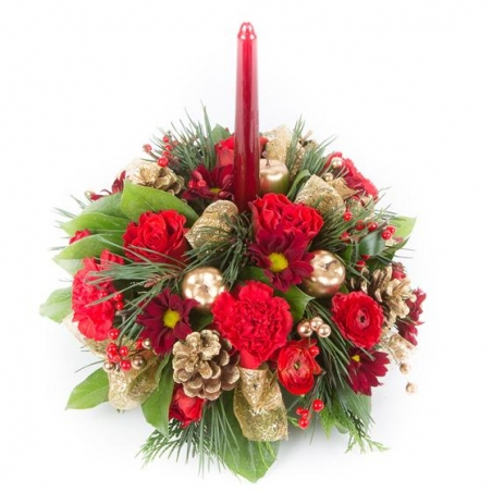 Christmas Time - same day or named day delivery - Rushes Florist