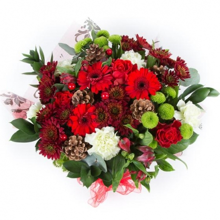 Merry Christmas - same day or named day delivery - Rushes Florist