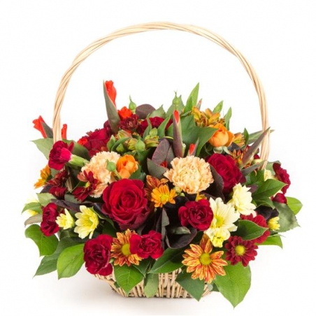 Traditional Basket Arrangement - same day or named day delivery - Rushes Florist