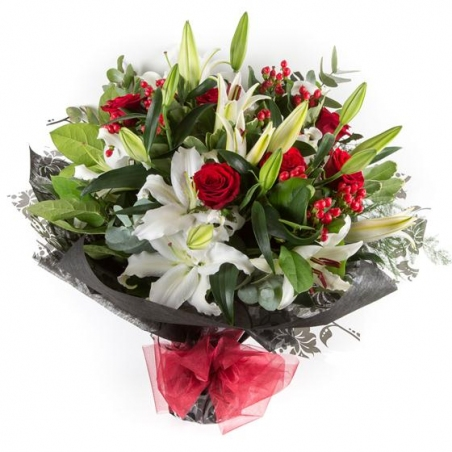 Very Berry Christmas - same day or named day delivery - Rushes Florist