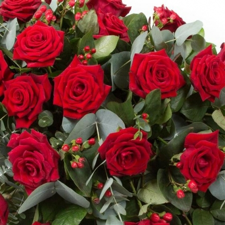 Rose Casket Spray - same day or named day delivery - Rushes Florist