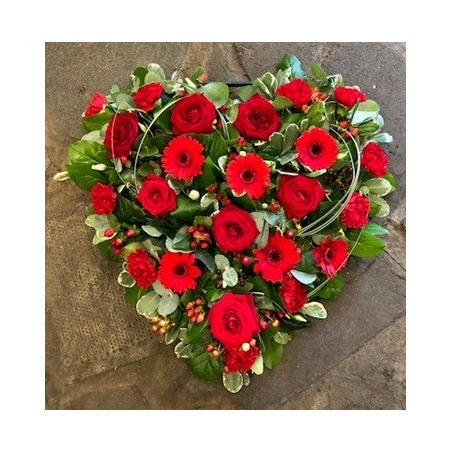 Loose Red Heart - same day or named day delivery - Rushes Florist