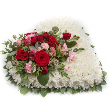 Massed Heart - same day or named day delivery - Rushes Florist